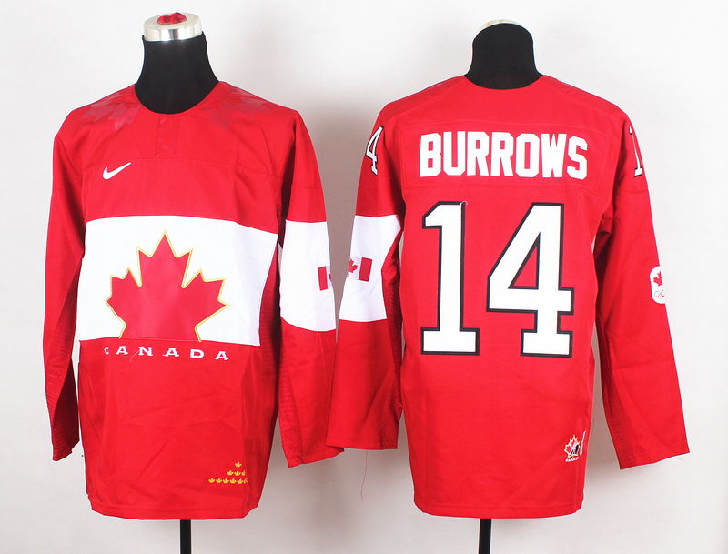 Canada 14 Burrows Red 2014 Olympics Jerseys