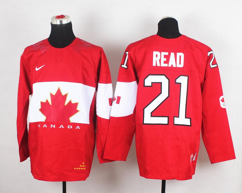 Canada 21 Read Red 2014 Olympics Jerseys