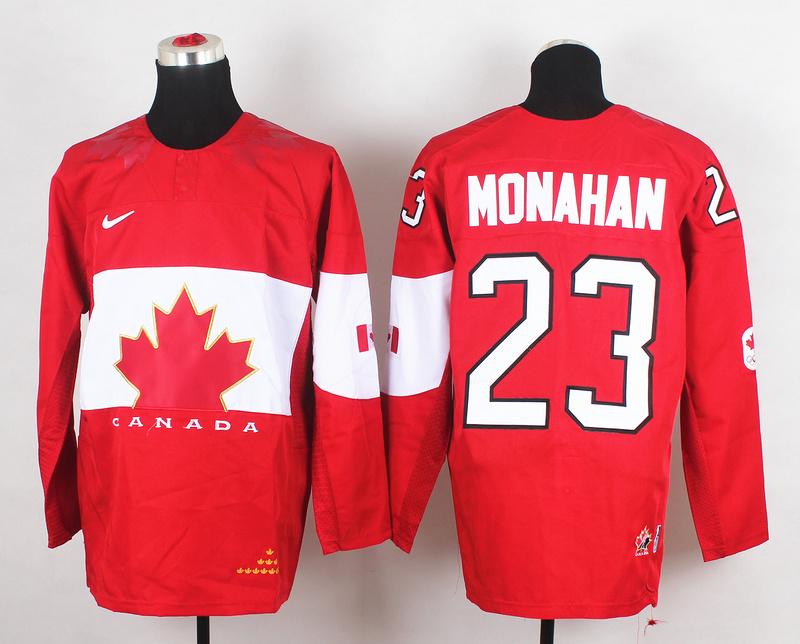 Canada 23 Monahan Red 2014 Olympics Jerseys