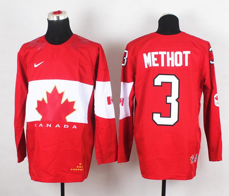 Canada 3 Methot Red 2014 Olympics Jerseys