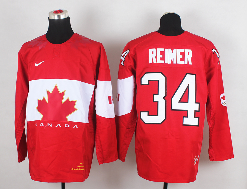 Canada 34 Reimer Red 2014 Olympics Jerseys