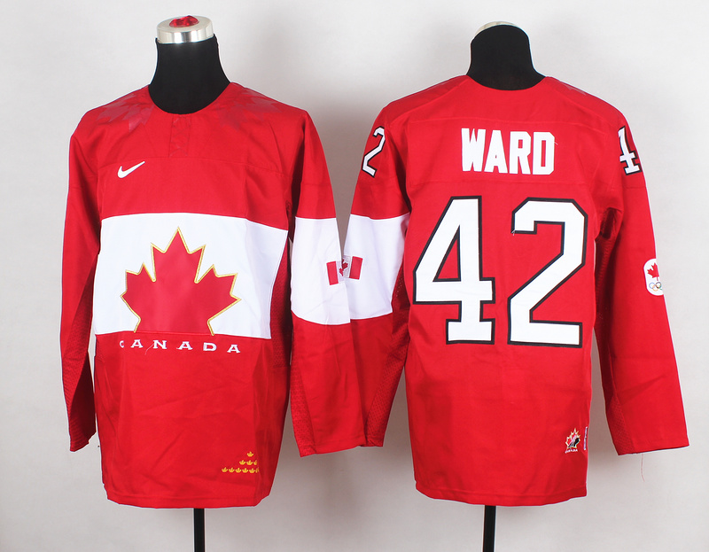 Canada 42 Ward Red 2014 Olympics Jerseys