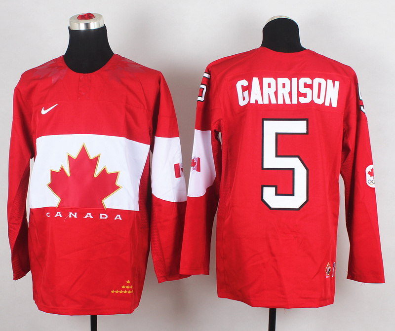 Canada 5 Garrison Red 2014 Olympics Jerseys