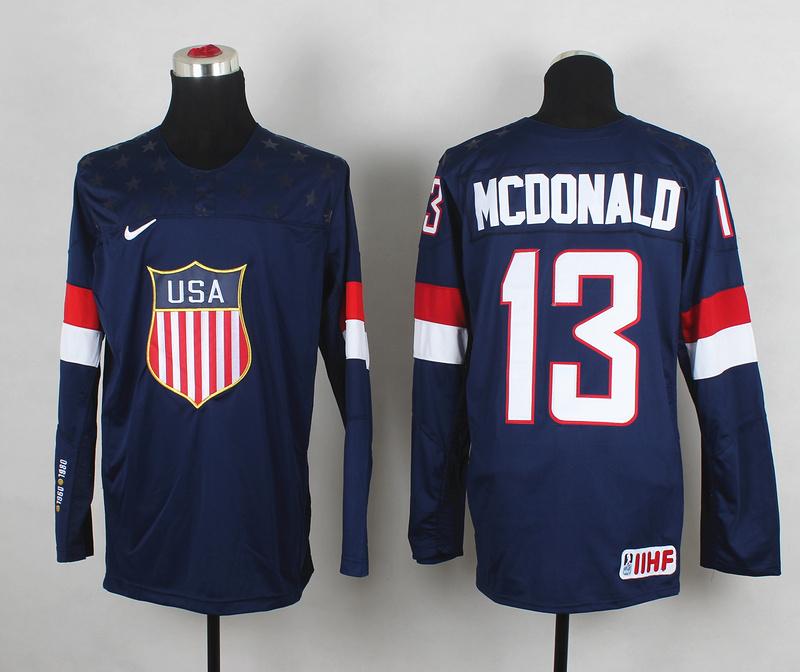USA 13 McDonald Blue 2014 Olympics Jerseys