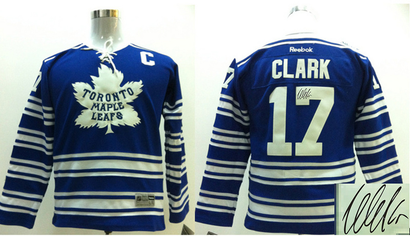 Maple Leafs 17 Clark Blue Signature Edition Youth Jerseys