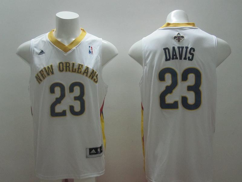 Pelicans 23 Davis White New Revolution 30 Jerseys