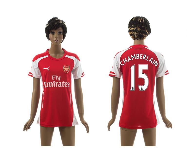 2014-15 Arsenal 15 Chamberlain Home Women Jerseys