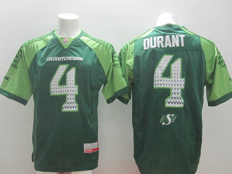 Reebok CFL Saskatchewan 4 Durant Green Jerseys