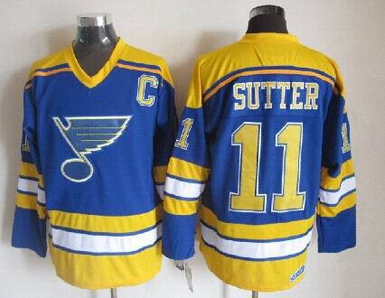 Blues 11 Sutter Blue Jerseys