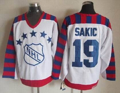 Nordiques 19 Sakic White Throwback Jerseys