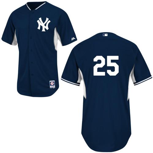 Yankees 25 Teixeira Blue New Cool Base Jerseys