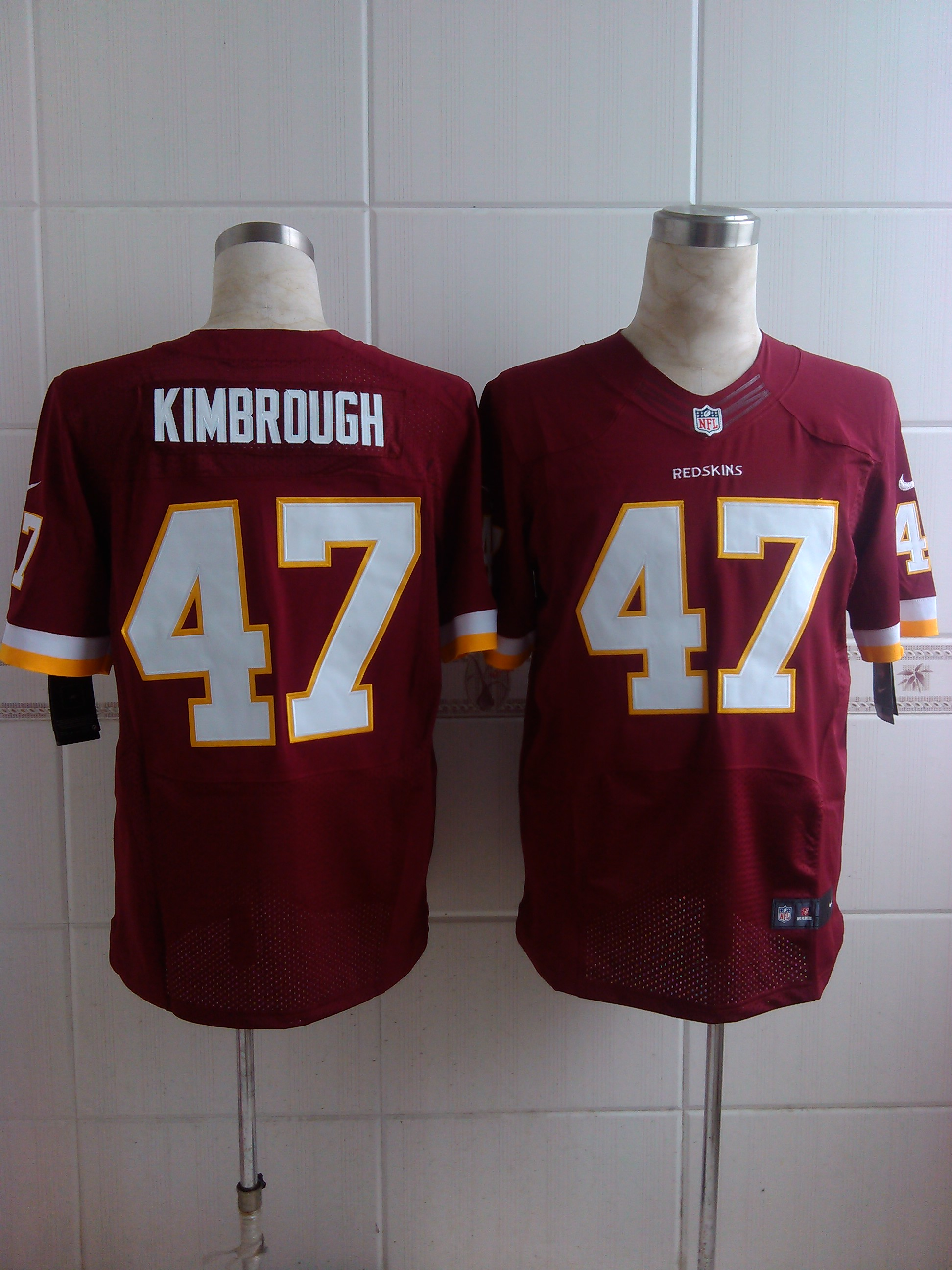 Nike Redskins 47 Kimbrough Red Elite Jerseys