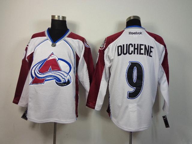Avalanche 9 Duchene White Jerseys