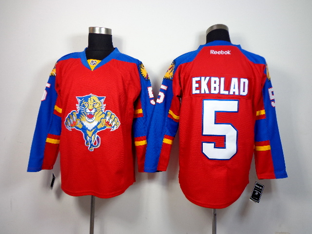 Panthers 5 Ekblad Red Jerseys