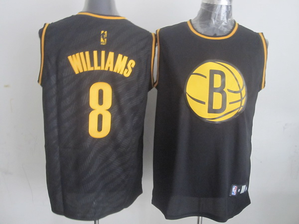 Nets 8 Williams Black Precious Metals Fashion Jerseys