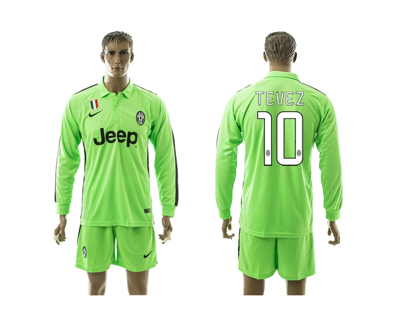 2014-15 Juventus 10 Tevez Third Away Long Sleeve Jerseys