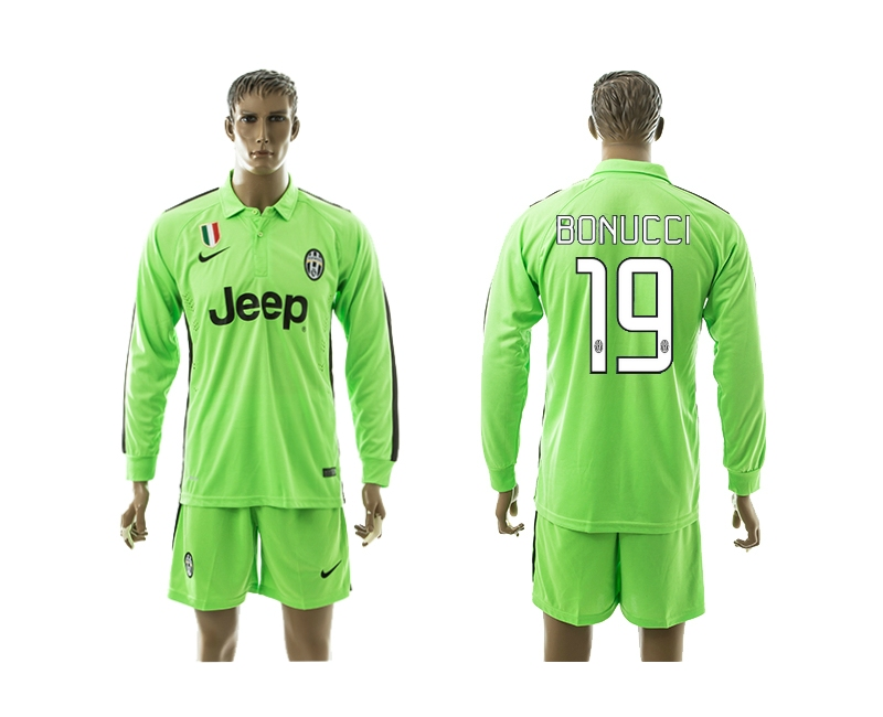 2014-15 Juventus 19 Bonucci Third Away Long Sleeve Jerseys