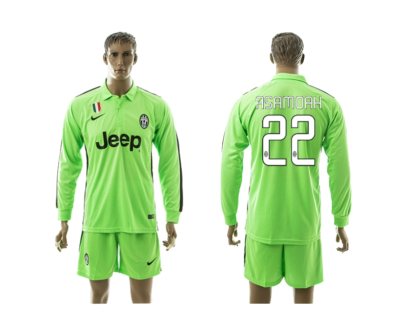 2014-15 Juventus 22 Asamoah Third Away Long Sleeve Jerseys