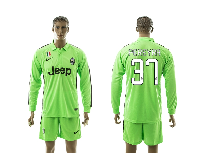 2014-15 Juventus 37 Pereyra Third Away Long Sleeve Jerseys