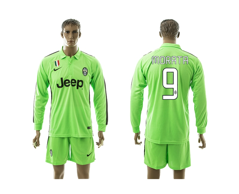 2014-15 Juventus 9 Morata Third Away Long Sleeve Jerseys
