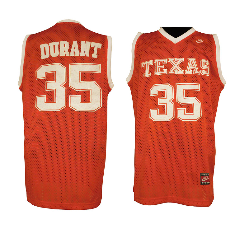 Nike Texas Longhorns 35 Durant Orange Swingman Jerseys