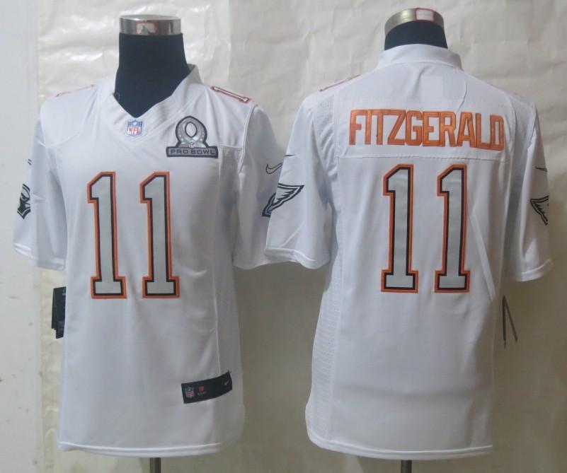 Nike Cardinals 11 Fitzgerald White 2014 Pro Bowl Jerseys