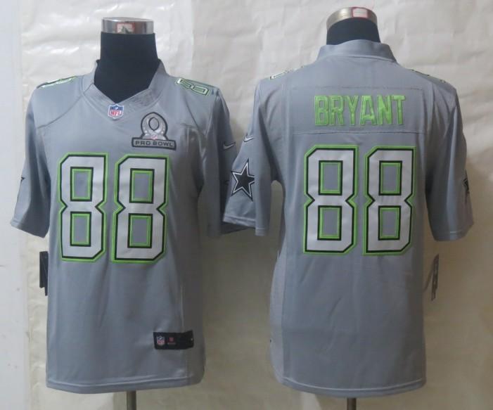 Nike Cowboys 88 Bryant Grey 2014 Pro Bowl Jerseys