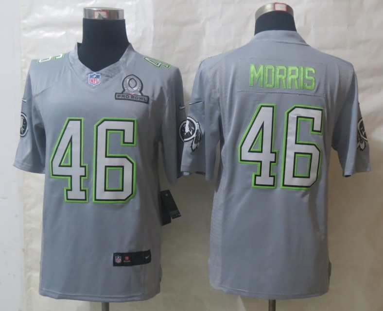 Nike Redskins 46 Morris Grey 2014 Pro Bowl Jerseys