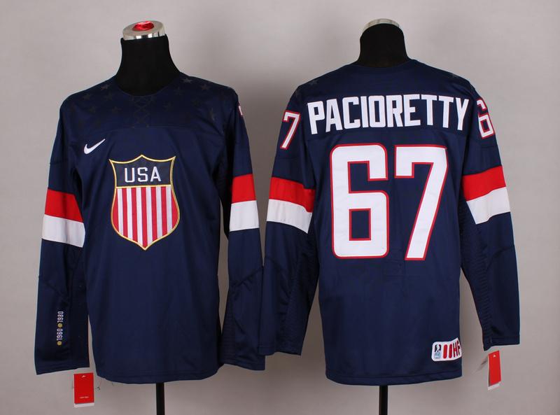 USA 67 Pacioretty Blue 2014 Olympics Jerseys