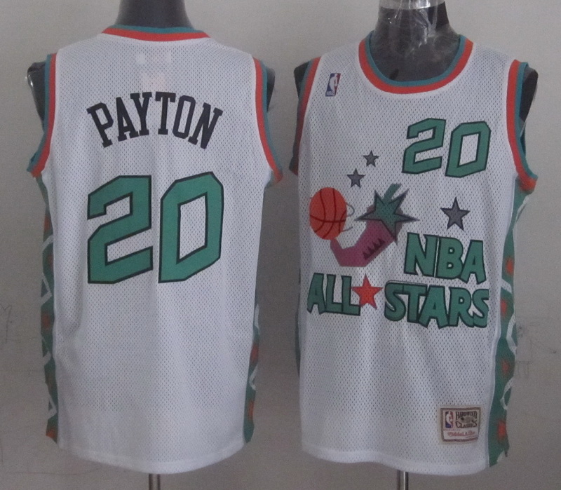 1996 All Star 20 Payton White Jerseys