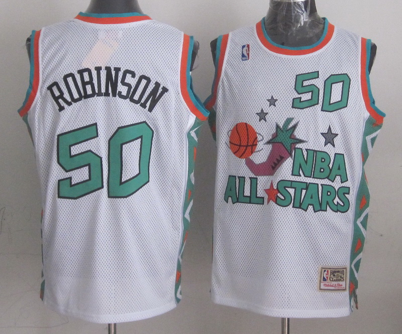 1996 All Star 50 Robinson White Jerseys