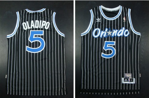 Magic 5 Victor Oladipo Black New Revolution 30 Swingman Jerseys