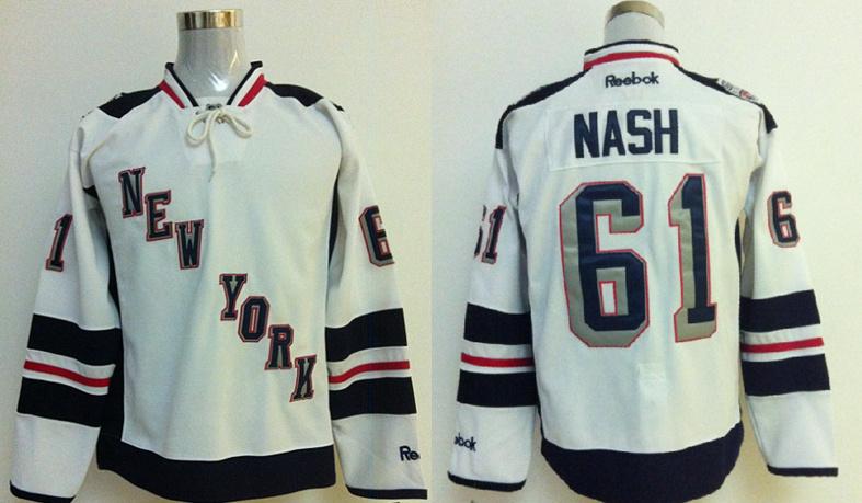 Rangers 61 Nash White 2014 Stadium Series Jerseys