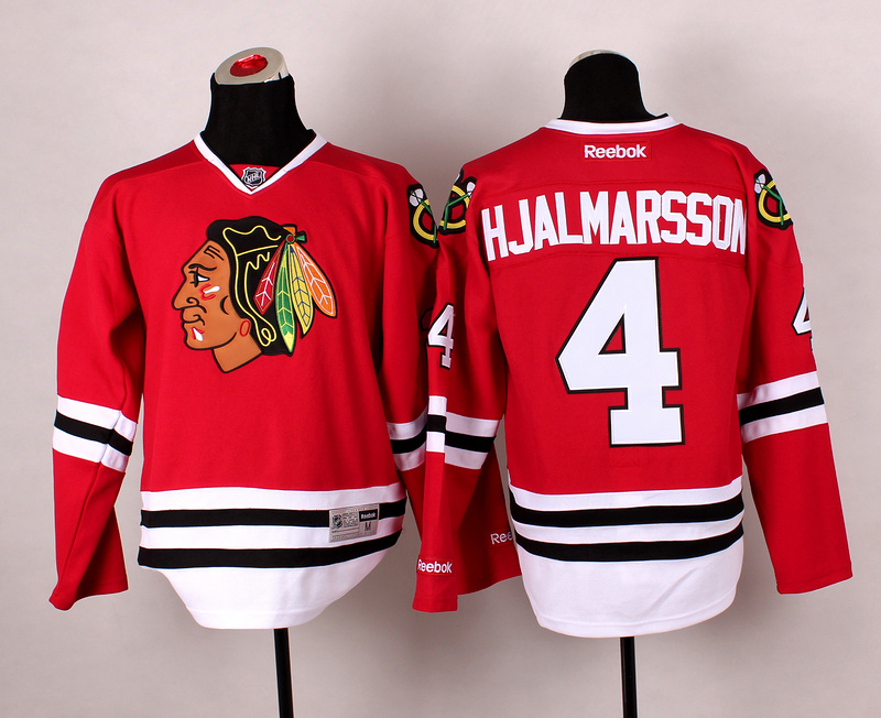 Blackhawks 4 Hjalmarsson Red 2014 Stadium Series Jerseys