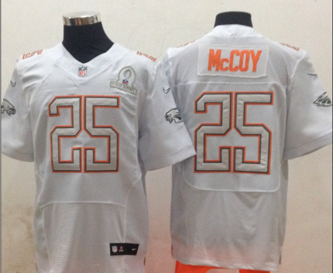 Nike Eagles 25 McCoy White 2014 Pro Bowl Jerseys