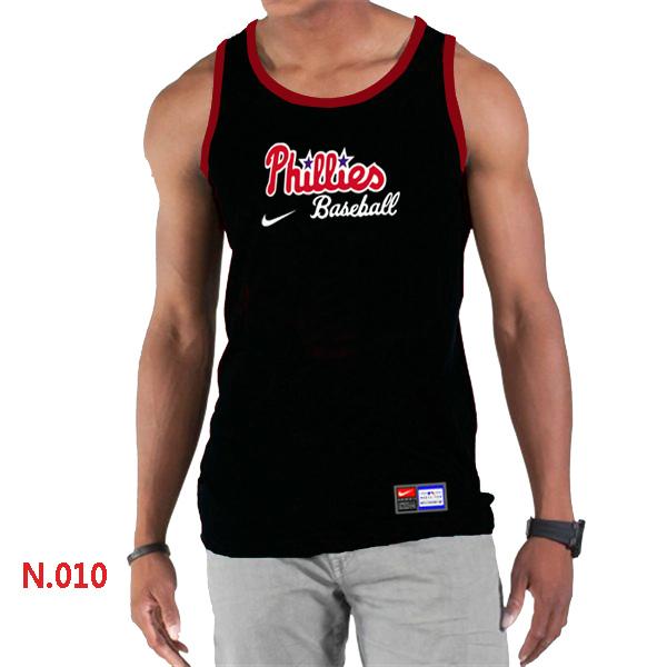 Nike Philadelphia Phillies Home Practice Men Tank Top Black
