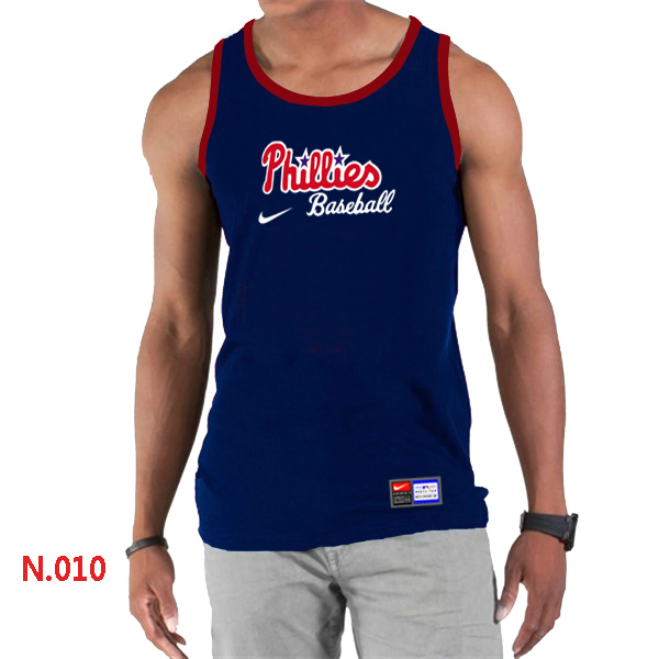 Nike Philadelphia Phillies Home Practice Men Tank Top D.Blue