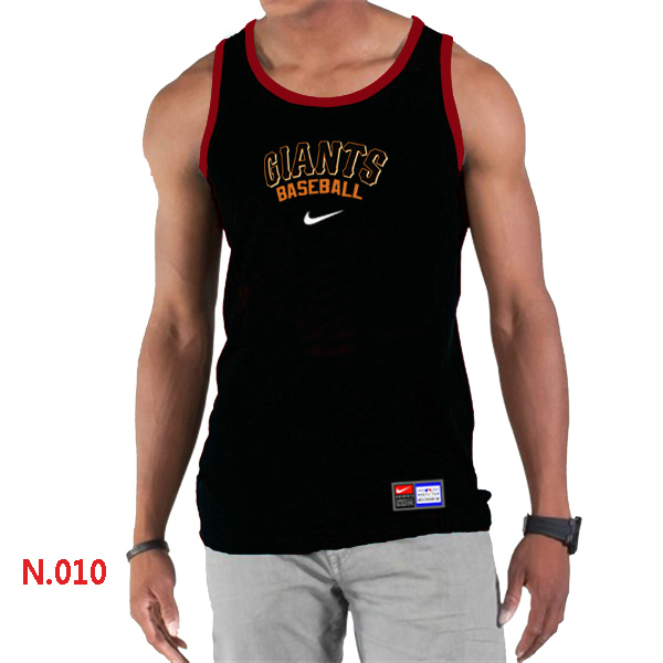 Nike San Francisco Giants Home Practice Men Tank Top Black