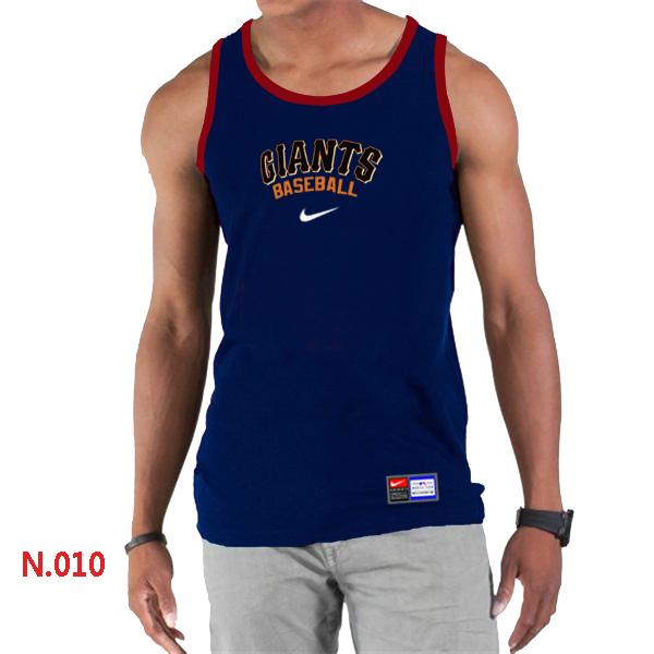 Nike San Francisco Giants Home Practice Men Tank Top D.Blue
