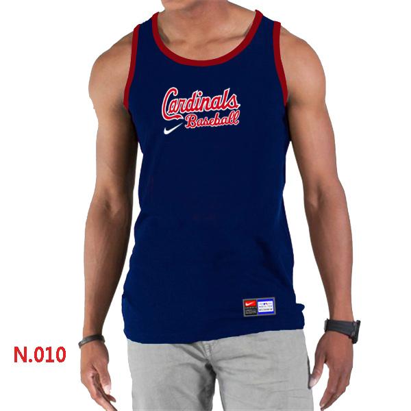 Nike St.Louis Cardinals Home Practice Men Tank Top D.Blue