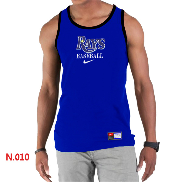 Nike Tampa Bay Rays Home Practice Men Tank Top Blue
