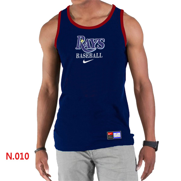 Nike Tampa Bay Rays Home Practice Men Tank Top D.Blue