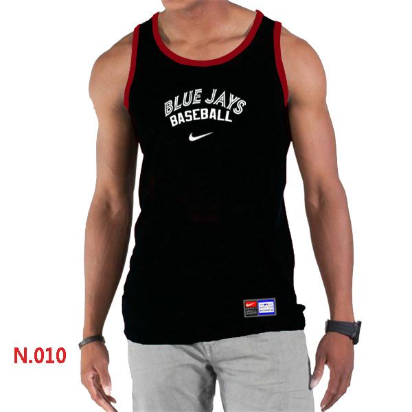 Nike Toronto Blue Jays Home Practice Men Tank Top Black