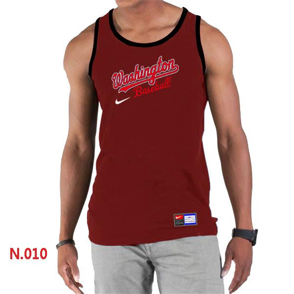 Nike Washington Nationals Home Practice Men Tank Top Red