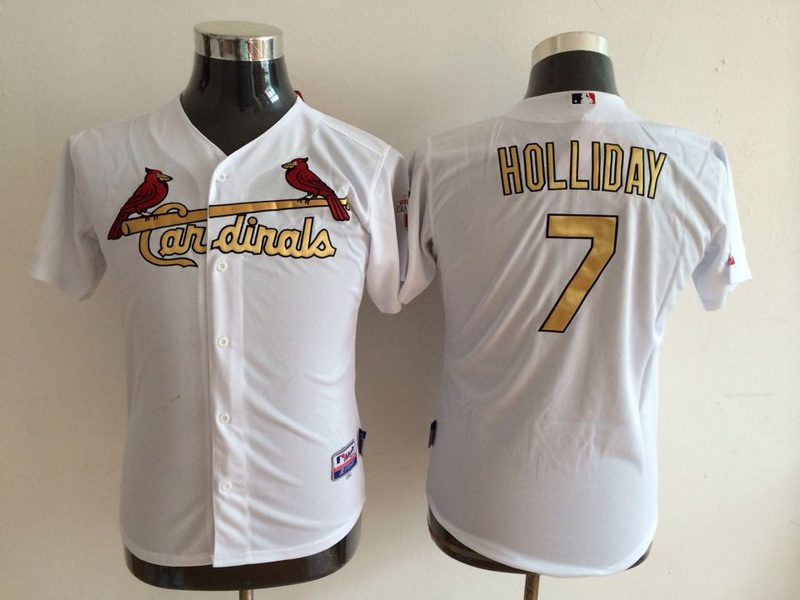 Cardinals 7 Holliday White Authentic 2012 Commemorative Youth Jersey