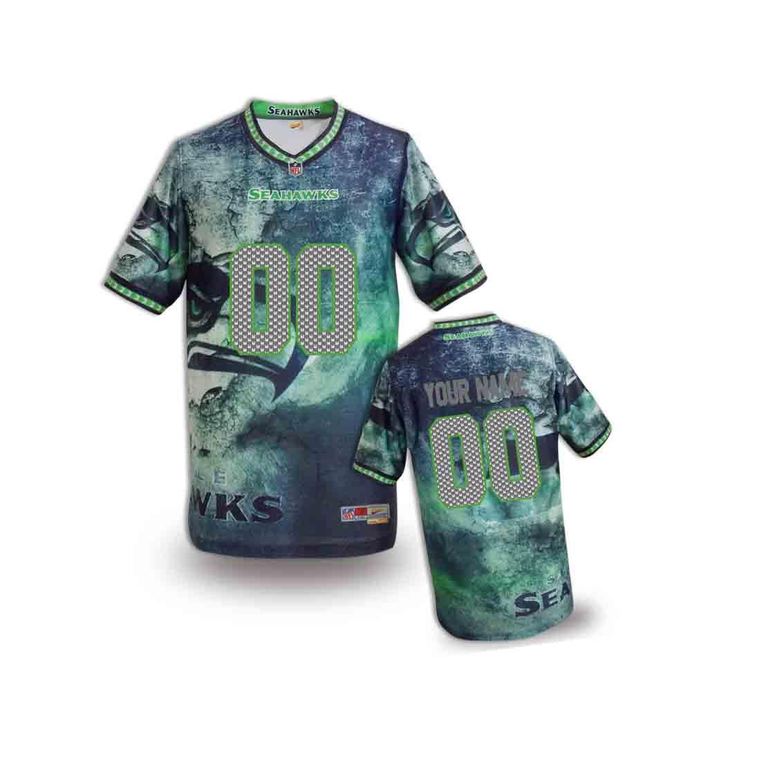 Nike Seahawks Customized Fashion Stitched Youth Jerseys02