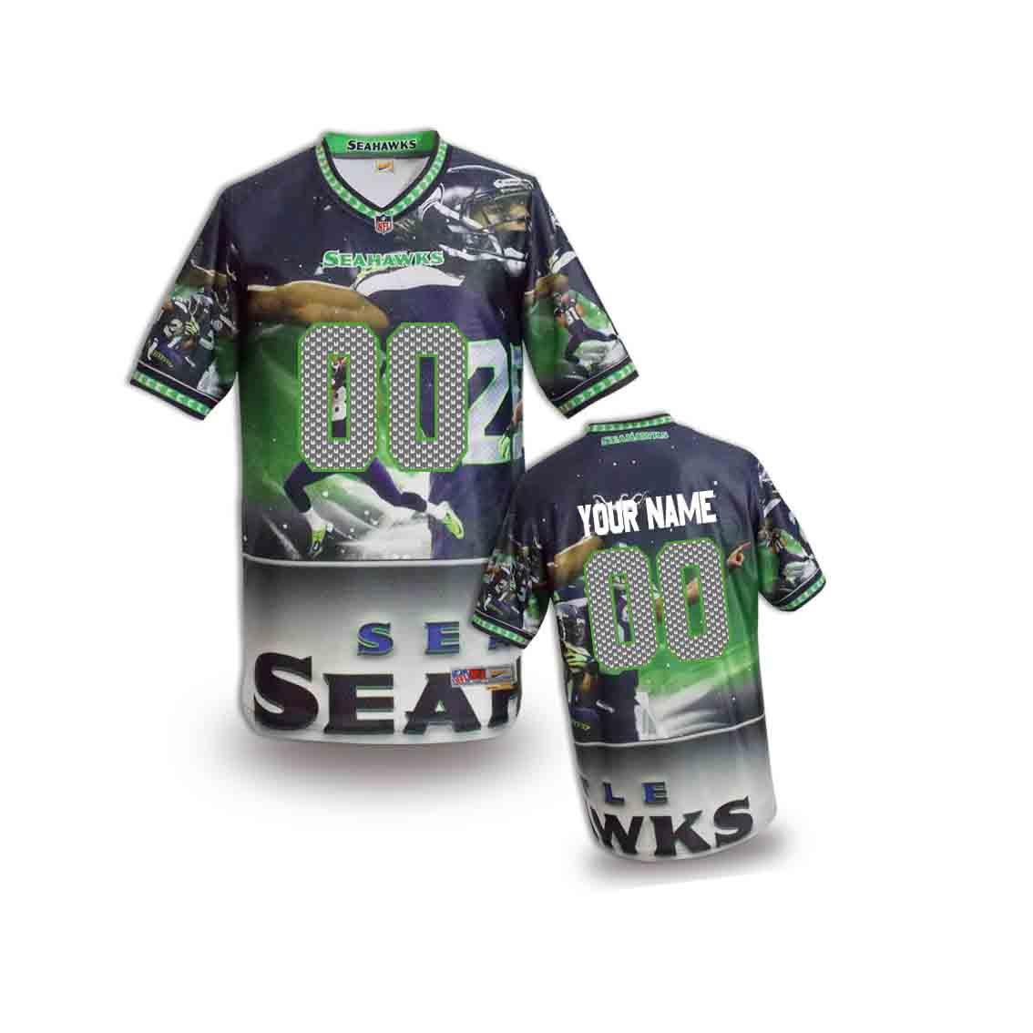 Nike Seahawks Customized Fashion Stitched Youth Jerseys03
