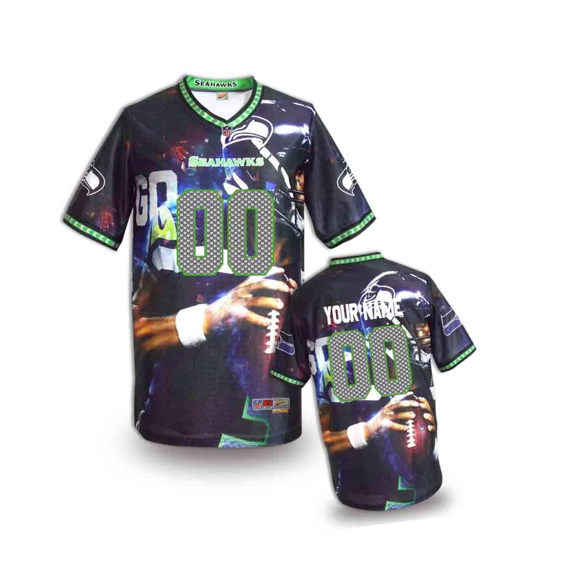 Nike Seahawks Customized Fashion Stitched Youth Jerseys07