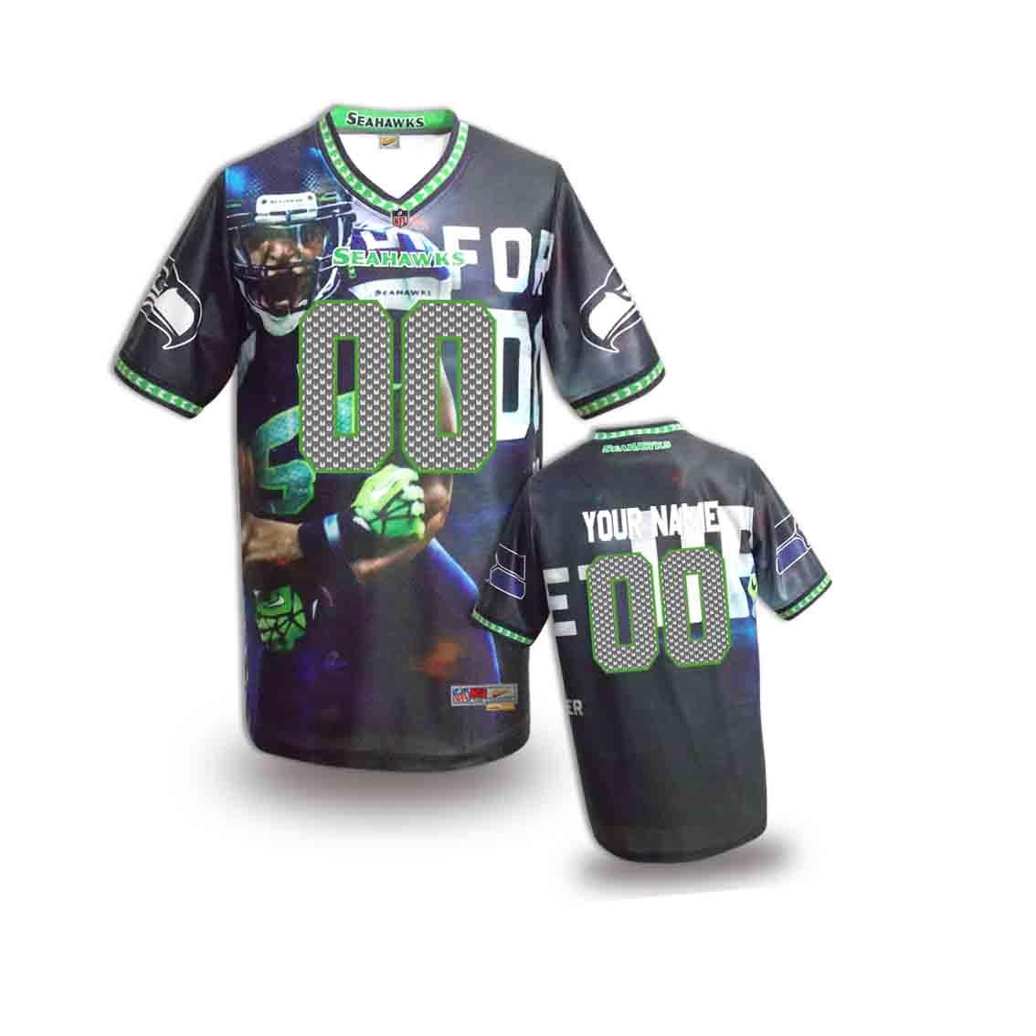 Nike Seahawks Customized Fashion Stitched Youth Jerseys08