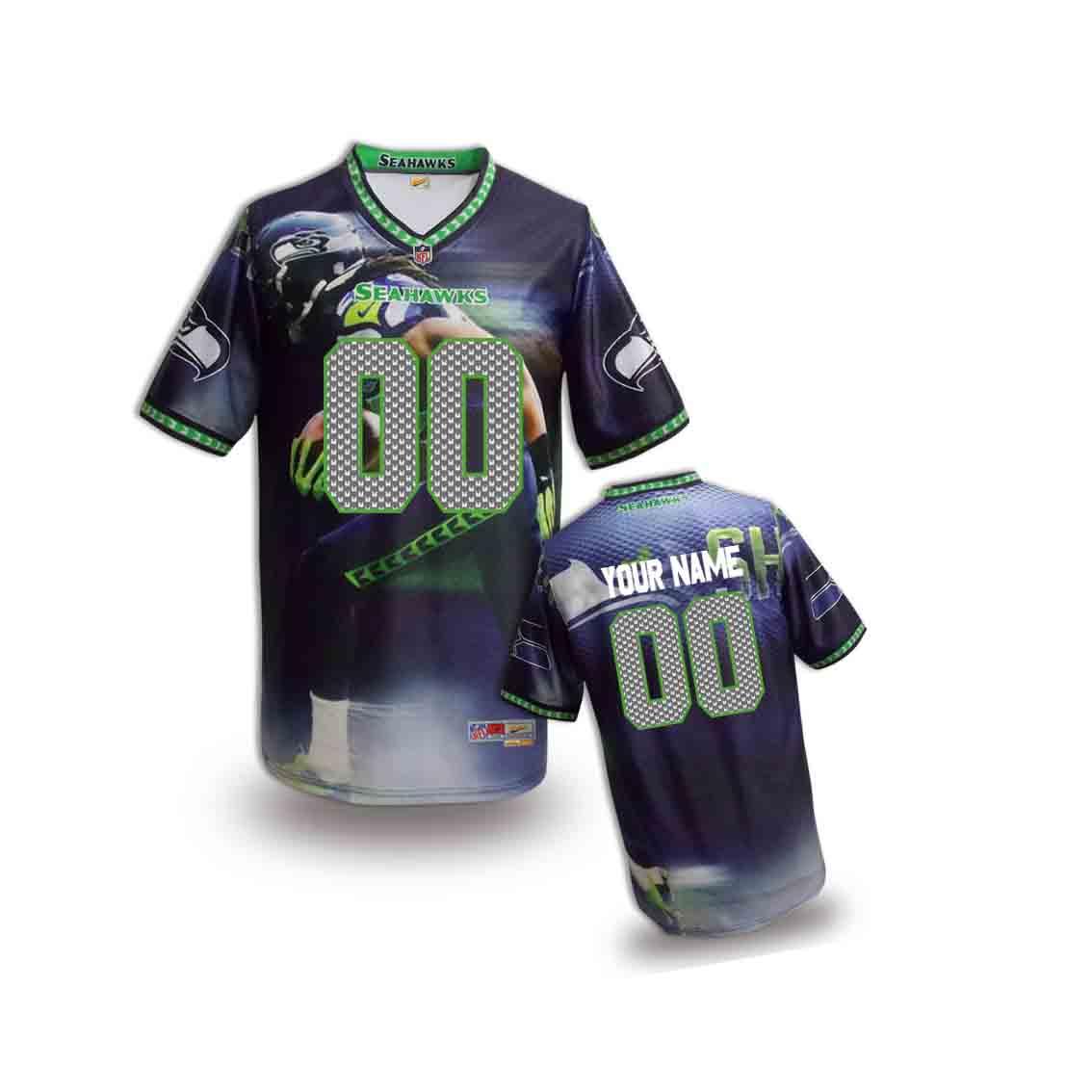 Nike Seahawks Customized Fashion Stitched Youth Jerseys10